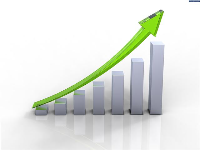 Green Positive Growth Chart